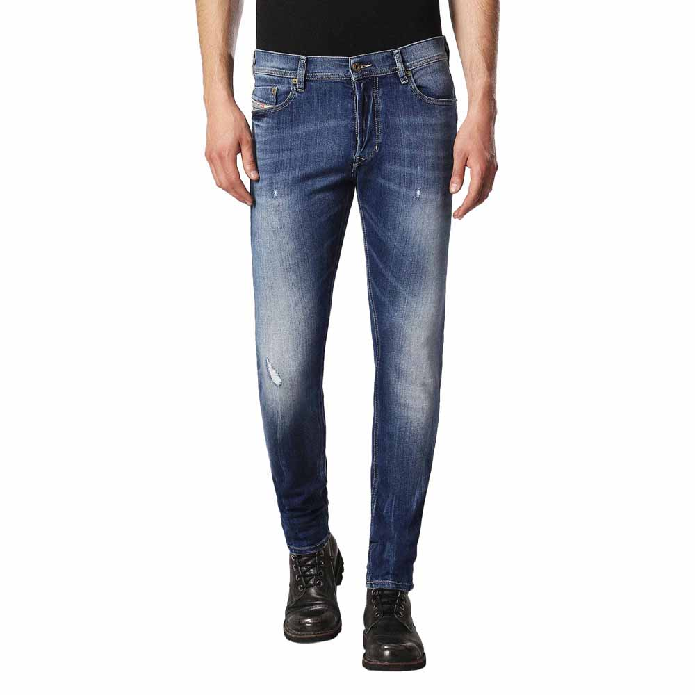 diesel tepphar 084gg mens denim jeans stretch slim fit carrot leg