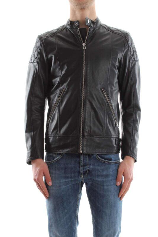 14aff66a7 DIESEL L MARTON Mens Biker Jacket Size M Genuine Black Leather Winter  Outwear