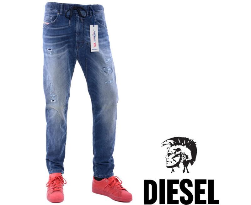 e6183b28 DIESEL NARROT-NE 0666W W31 L32 Mens Denim Sweat Jogg Jeans Regular fit  Carrot - topbrandoutlet