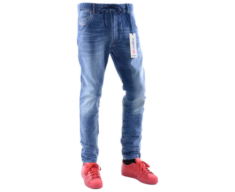 c35e9317 DIESEL KROOLEY NE 0674Z W30 L30 Mens Denim Sweat Jogg Jeans Slim Fit Carrot  - topbrandoutlet