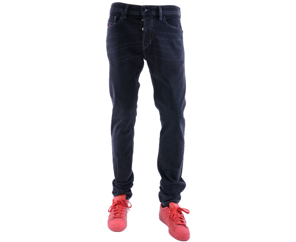 diesel tepphar 084hq mens denim jeans stretch slim fit carrot casual pants