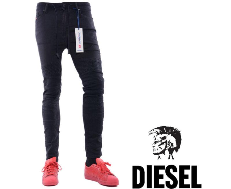 3a376d55 Details about DIESEL BAKARI NE 0678E W28 L26 Mens Denim Sweat Jogg Jeans  Regular Slim Straight