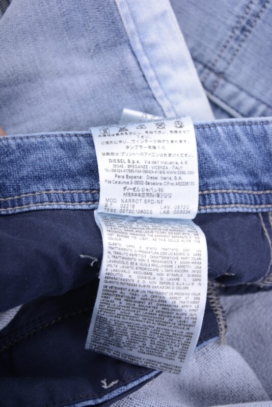 DIESEL NARROT-NE 0672G W34 L32 Mens Denim Sweat Jogg Jeans Regular Fit  Carrot