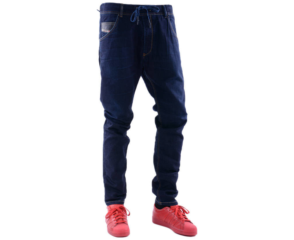 diesel krooley ne 0600v mens denim sweat jogg jeans regular slim tapered italy