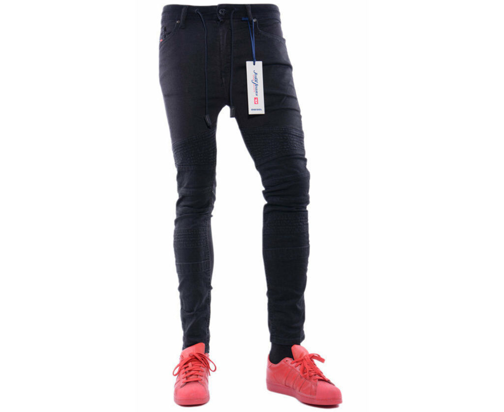 diesel bakari ne 0678e mens denim sweat jogg jeans stretch super slim fit skinny