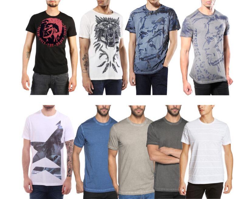 bdf0c81b DIESEL Graphic Mens T-Shirt Crew Neck Size S M L XL 2XL Black White ...