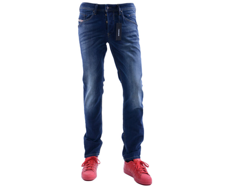 cccad500 DIESEL BELTHER 0814W W29 L32 Mens Denim Jeans Stretch Regular Slim Tapered  – Topbrandoutlet