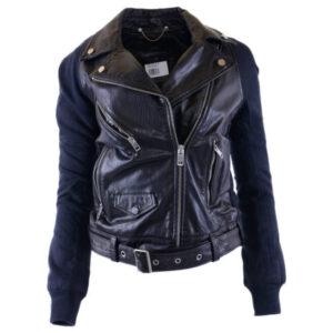 diesel prototipi giubbini womens genuine leather biker jacket winter black coat