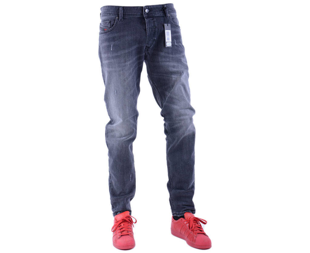 diesel sleenker 084nq mens denim jeans distressed stretch slim fit skinny pant