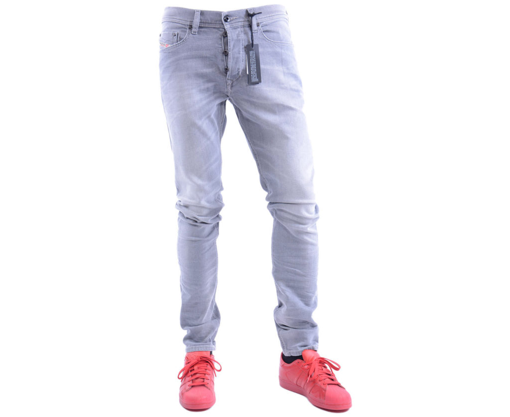 diesel tepphar 0839n mens denim jeans stretch slim fit carrot casual pants