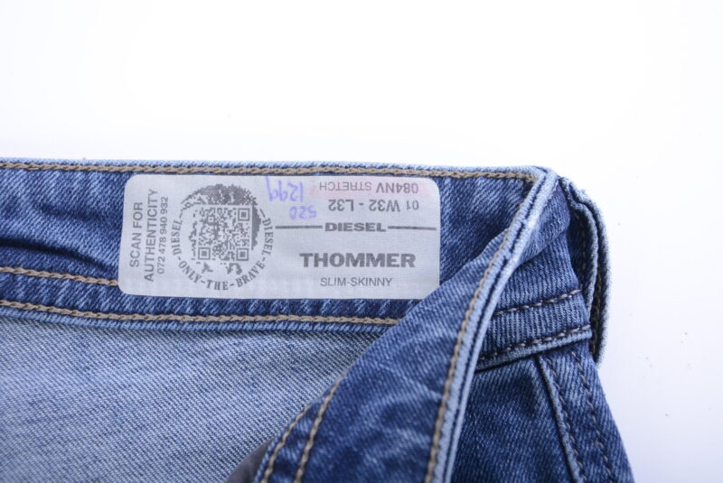 diesel thommer 084nv mens denim jeans distressed lyocell stretch slim fit skinny