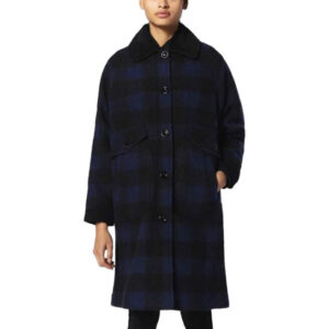 diesel w-dana womens waistcoat single breasted trench xxs s l blue buffalo check