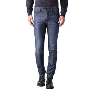 diesel buster 0844g mens denim jeans regular slim tapered casual blue trousers