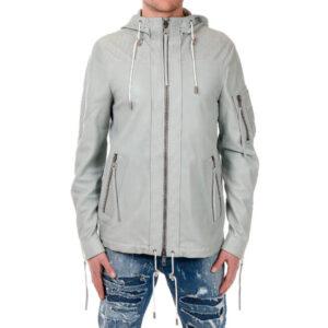 diesel black gold lident bgpcv mens jacket size 46 leather hooded winter coat