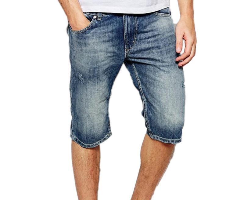 c501d88a DIESEL THASHORT HOSCHEN 0PALU Mens Denim Jeans Shorts Summer Casual ...