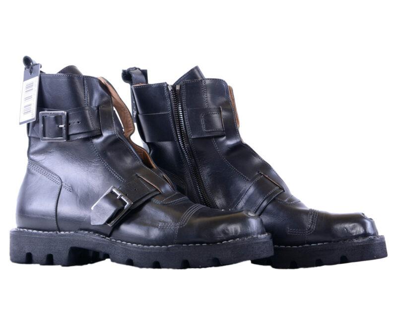 a3128d5ffe8 DIESEL HARDKOR STEEL Mens Boots UK 9 Genuine Leather Black Shoes Hi Top  Sneakers