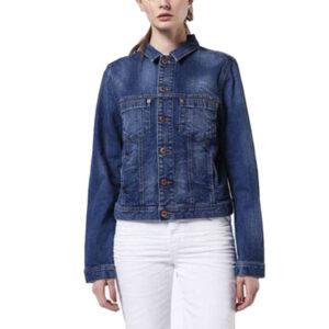diesel de-josef 084iv womens denim jacket winter outwear button long sleeve