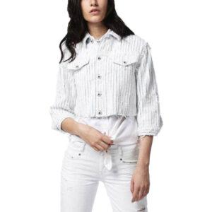 diesel de-sy 0682h womens denim jacket winter outwear crop top short sleeve