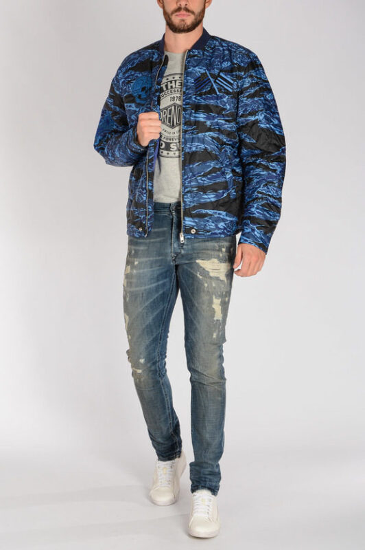 diesel w-camu mens bomber jacket quilted winter outwear coat