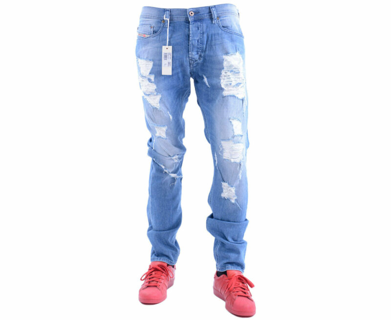 5f846ea7 HomeMenJeansDIESEL TEPPHAR 0669Y Mens Denim Jeans Distressed Stretch Slim  Fit Carrot. -33%