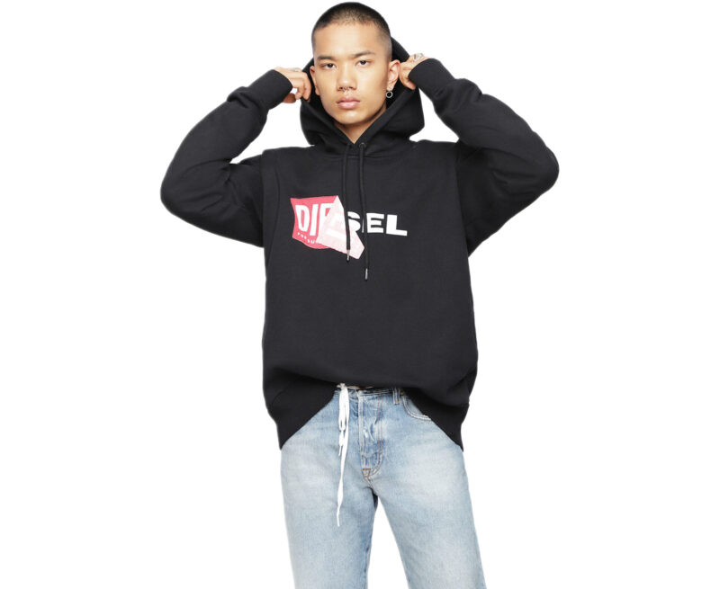 super popular 049ed a18e0 Details about DIESEL S ALBY FELPA Men Hoodie Casual Hooded Sweatshirt Over  Size Cotton Top