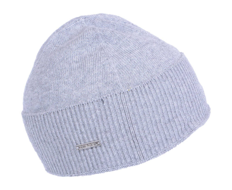 1dc935d1812d3 DIESEL Mens Knitted Beanie Hat Casual Winter Grey Cap Pull On Ribbed ...
