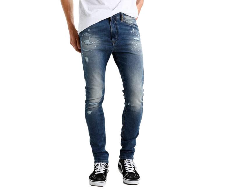 44b6dc99 DIESEL SPENDER NE 084GV Mens Denim Sweat Jogg Jeans Slim Fit Skinny ...