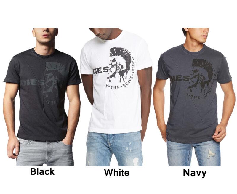 93b8e05c DIESEL T ULEE Mens T-Shirt Short Sleeve Crew Neck Cotton Summer ...