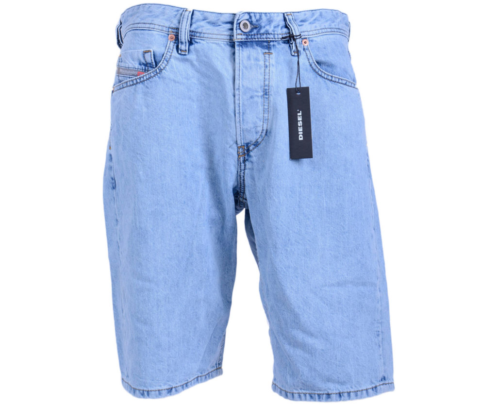 diesel keeshort 084re mens denim jeans shorts loose fit cotton summer beachwear