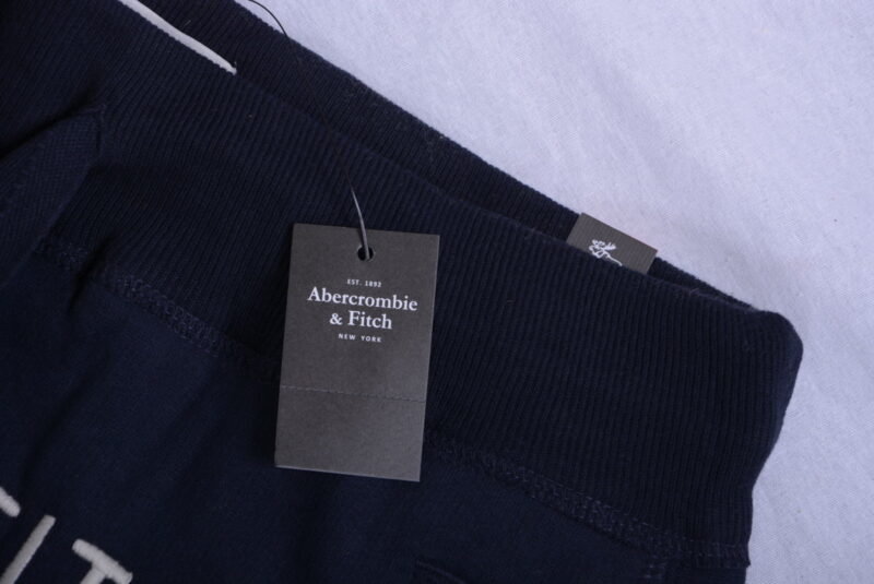 abercrombie & fitch mens fleece jogging bottom a&f sweatpants navy regular fit