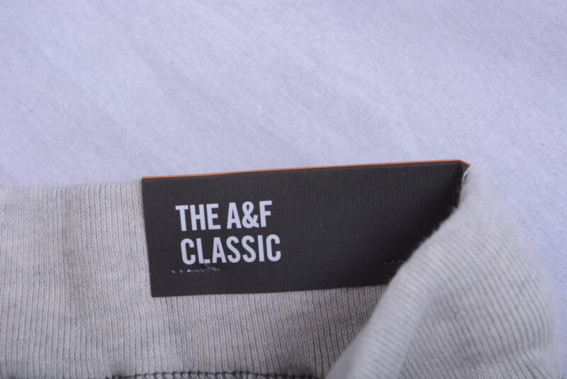 abercrombie & fitch mens fleece jogging bottom regular fit a&f grey sweatpants