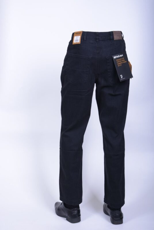 farah classic fabs5029 mens trousers flat front straight navy 417 cotton twill