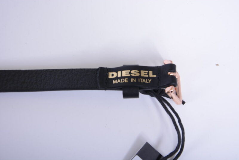 diesel womens belts genuine leather metal buckle ladies waist belt black italy