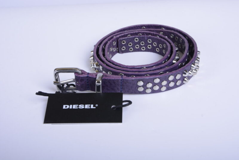 diesel womens belts size 85cm cow leather metal stud stylish waist belt italy