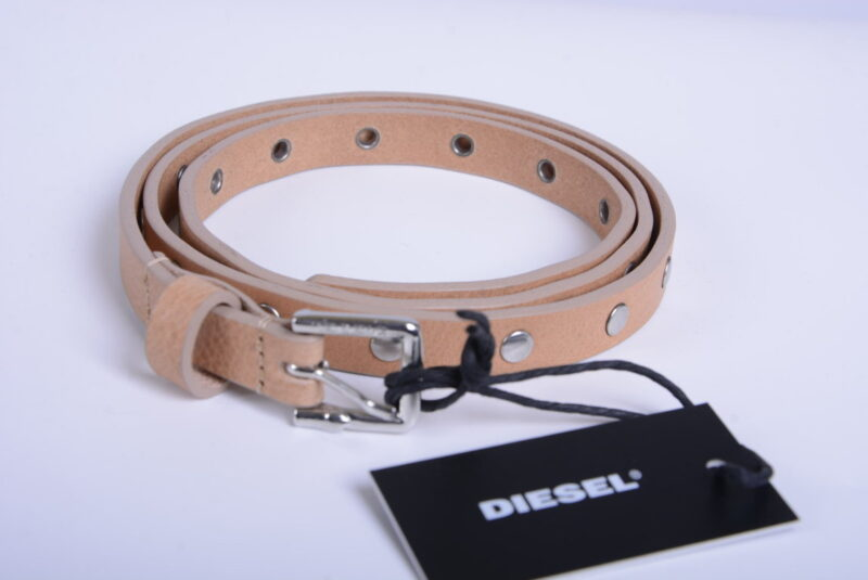 diesel womens belts genuine leather casual metal stud buckle waistband italy