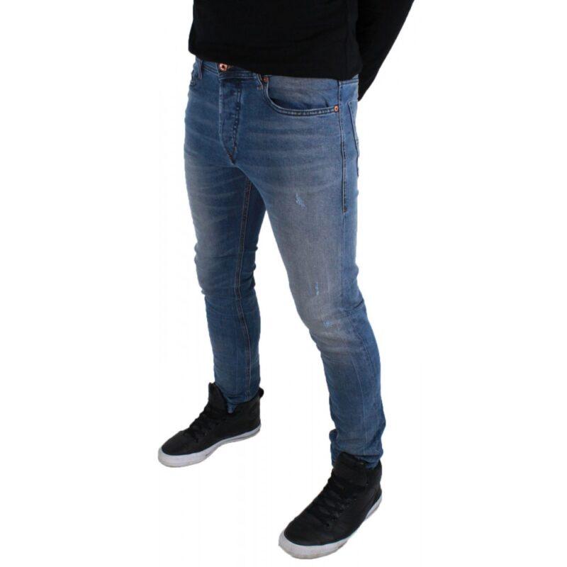 4ac4b15e188fae DIESEL TEPPHAR 0857L Mens Denim Jeans Slim Fit Carrot Leg ...