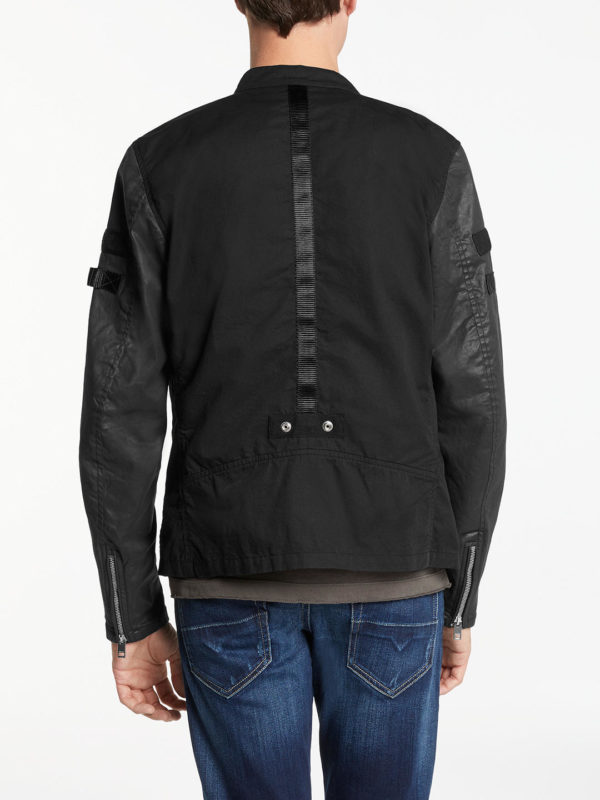 diesel j mot mens bomber jackets padded quilted full zipped black winter outwear