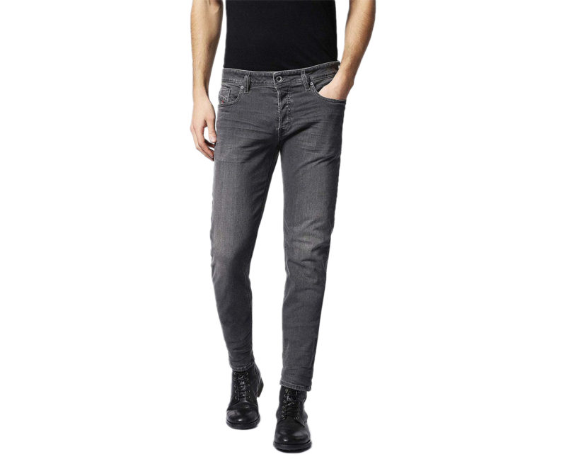 Da UOMO DESIGNER PLAIN completa Stretch Slim Fit Denim Jeans Pantaloni Moda