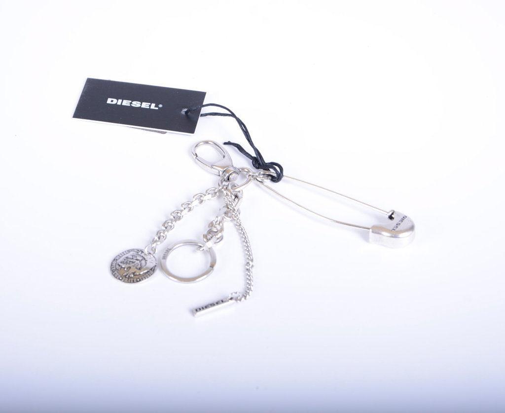 DIESEL Mohawk Unisex Keyring Stainless Steel Silver Link Chain Fob Key Holder
