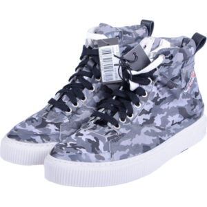 diesel mens sneakers high neck camouflage army military trainers casual shoes
