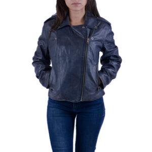 diesel l-revi womens genuine leather biker jacket slim fit zipper