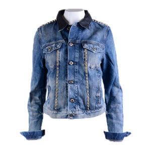 diesel de-wild womens denim jeans jacket lyocell casual slim fit winter outwear
