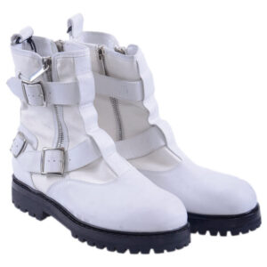 diesel mens boots leather chester hi top sneakers casual white shoes eu 44 italy