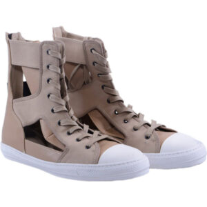 diesel mens trainers genuine leather hi top lace up sneakers chester shoes italy
