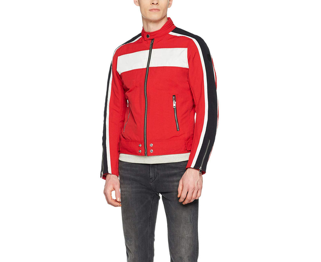 diesel j street mens biker jackets slim winter outwear bomber casual red coat