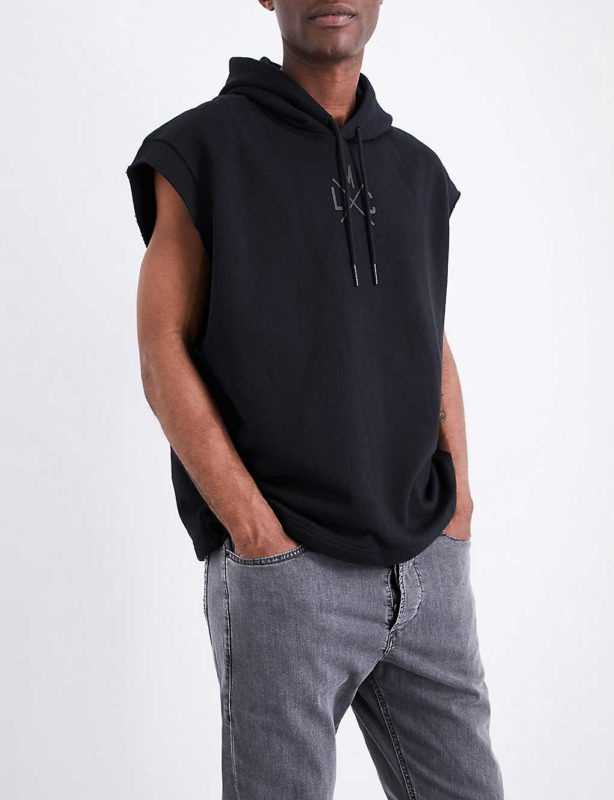 diesel s drive gr na mens sleeveless hoodie sport gym hooded sweatshirt tank top