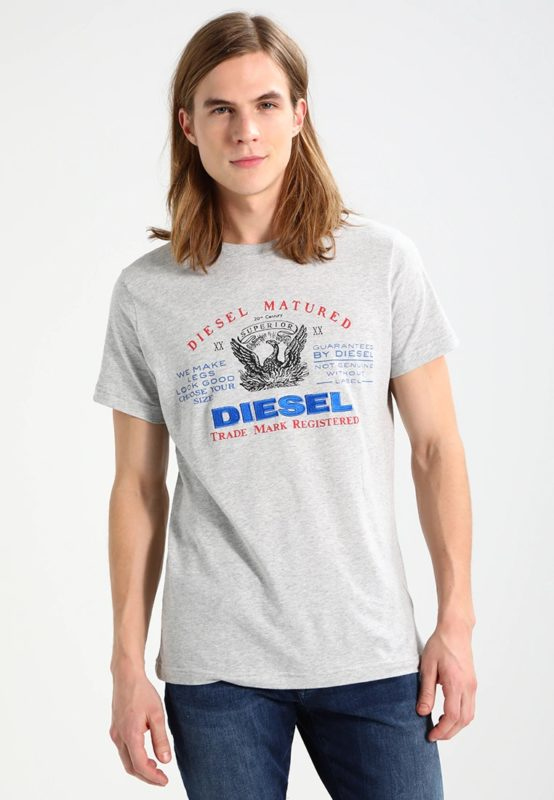 diesel mens t-shirt short sleeve crew neck casual summer cotton tees