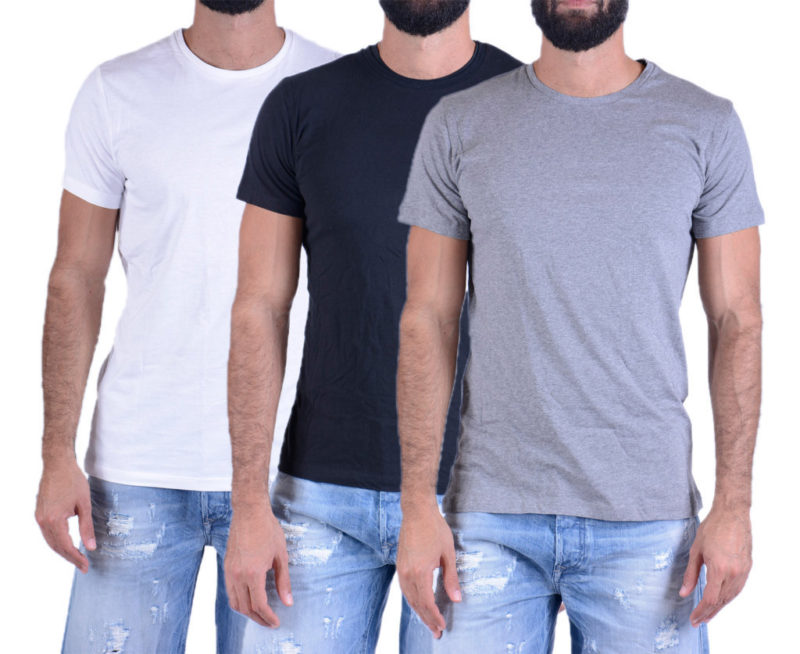 diesel umtee jake three pack mens t shirt 3 pack short sleeve crew neck basic