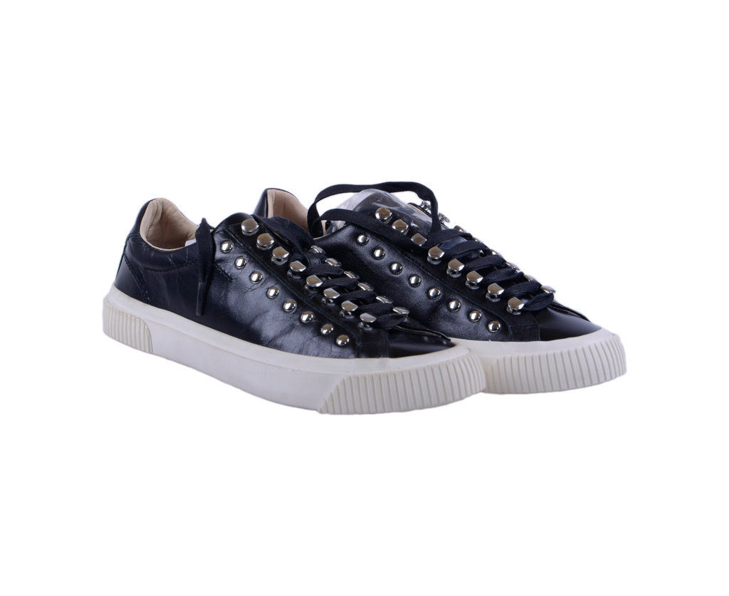 diesel s-mustave lc genuine leather womens sneakers lace up trainers shoes