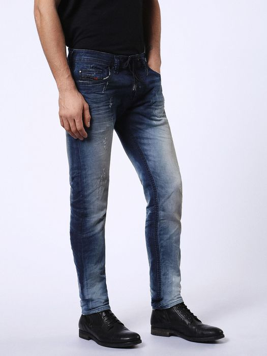 diesel thavar sp ne 0682g mens denim sweat jogg jeans lyocell slim fit skinny